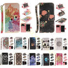 New Cute Sweet Women's Case + Anti-lost Strap Stand Leather Cover For Cellphones