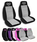 2 Front Cutie Heart Velvet Seat Covers with 14 Color Options