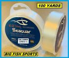 SEAGUAR BLUE LABEL FLUOROCARBON Leader 100YDS PICK YOUR SIZE FREE USA SHIPPING