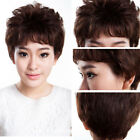 New 70g Short Wave Women Wig 100% Human Hair Wigs Gift For Mother