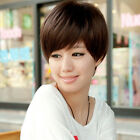 Natural Looking Straight 100% Short Human Hair Wigs Machine Made 3Colors