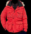 Polo Ralph Lauren Mens RLX Ranger Down Feather Red Parka Hooded Zip Jacket Coat