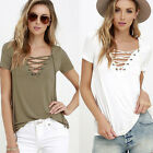 Fashion Womens Loose Pullover T Shirt Short Sleeve Cotton Tops Shirt Blouse LAUS