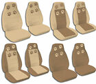 Front Rear Brown & Tan Paw Print  Jeep Wrangler Seat Covers 1987-2001