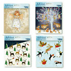 Square Advent cards glitter varnish with white envelopes 158 x 160 mm