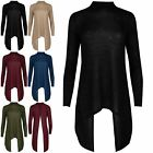 Womens Ladies Turtle Neck Back Less Wrap Over Wraped Marl Knitted Hanky Hem Top