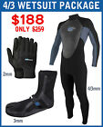 Mens Surfing Diving Wetsuit 4/3mm Compare to O'Neill Epic - PACKAGE BEST SELLER