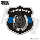 Mounted Police Patrol Black Horse Decal Thin Blue Line Officer Gloss Sticker WRS