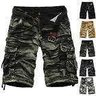 Men's Summer Casual Shorts Pants Army Camouflage Baggy Cargo Camo Work Trousers