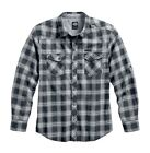 Harley-Davidson Men's Roll Tab Long Sleeve Plaid Shirt 96568-17vm