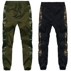 Men's Harem Sports Field Cargo ARMY Pants Camouflage Camo Trousers Sweatpants XL