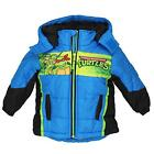 TMNT Toddler Boys Blue & Black Puffer Coat Size 2T 3T 4T 5T