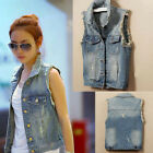 New Fashion  Women's Denim Jacket Slim Coat Denim Casual High Waist Coat