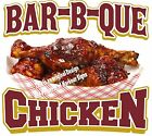 Bar-B-Que Chicken DECAL (CHOOSE YOUR SIZE) BBQ Food Sign Restaurant Concession