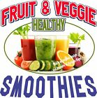 Smoothies DECAL (CHOOSE YOUR SIZE) Fruit Veggie Food Sign Restaurant Vinyl