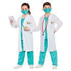 Unisex Boys Girls Hospital Doctor Costume for Scientist Surgeon Fancy Dress