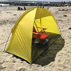 Beach Tent 2 person people Pop Up Cabana Shelter Yellow Sun Shade Outdoor UV