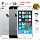 "APPLE IPHONE 5C-8G 5S-16G Silver GSM ""Factory Unlocked"" Smartphone Cell Phone"