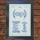 STAR WARS Tie Bomber Blueprint VERY RARE Reproduction Vintage Wall Art Print #23