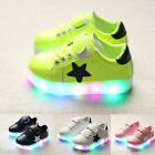 Fashion bambino Scarpe Casual Luminoso Fluorescente Night LED Shoes