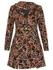 STELLA MORGAN SCRIBBLE TWIRL LACE COLLARED TEXTURED LONG SLEEVE COAT MULTI