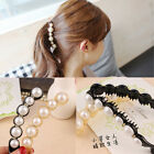 Women Fashion Color Crystal Rhinestone New Banana Barrette Hair Clip Hairpin X1