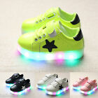 Kids Luminous Sneakers Charging Lighted Colorful LED Lights Children Boy Shoes