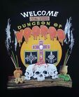 WELCOME TO DUNGEON OF VOODOO ON UNISEX/MEN SIZE T-SHIRT NEW ORLEANS WITCHCRAFT