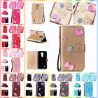 For LG Stylus 2 LS775 Finished DIY Gadget Case Anti-lost Strap PU Leather Cover