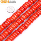 "Coral Stone Beads For Jewelry Making 15"" Beads in Lots Freeform Size Color Pick"