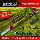 Giantz 75CC Pole Chainsaw Brush Cutter Whipper Snipper Hedge Trimmer Pruner