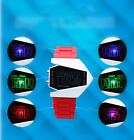 Men's Sport 6 Colors Changing LED Backlight Intelligent Aircraft Wrist Watches