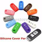 3 Button Silicone Key Shell Cover Fob Case Remote Holder For Mazda 3 5 CX-5 CX-7