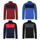 Pierre Cardin Mens Fleece Jumper Pullover Long Sleeve Funnel Neck 3/4 Zip Top