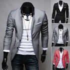 Mens Stylish Casual Long Sleeve Two Button Suit Blazer Jacket Coat Outwear Tops