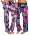 Ladies Thermal Checked Pajama Bottoms New Womens 100% Brushed Cotton PJS UK 8-22