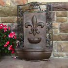 "33.2"" French Lily Outdoor Wall Water Fountain"