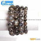 Handmade Black Crackle Agate Beaded Energy Stretchy Bracelet Free Shipping 7""