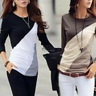 Sexy Damen Casual Langarm T-Shirt Baumwolle Bluse lose Tops Mode Bluse JTOO