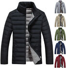 Men Winter Stand Collar Bubble Quilted Jackets Men's Padded Coat Plus Size XXXL