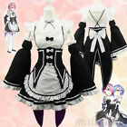 Role Play kara Hajimeru Isekai Seikatsu Ram Rem Maid Dress Cosplay Costume Cloth