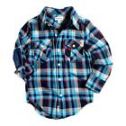 Appaman Flannel Shirt in Blue Plaid Color NWT