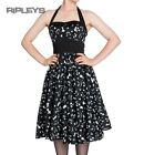 HELL BUNNY Black 50s Dress CREEPY Goth Halloween Ghosts Graveyard All Sizes
