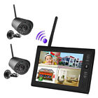 "7"" TFT LCD Monitor Wireless CCTV Security System Kit mit 2 Outdoor Bullet Camera"