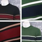 Art Gallery 60's Retro Mod All Cotton Horizontal Stripe Crew Neck Sweater