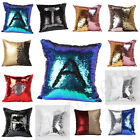 2 Color Reversible Sequins Mermaid Glitter Sofa Cushion Cover Pillow Case Retro