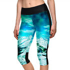 U362 Snow Peak Blue Sky Digital Printing Elastic High Waist Sport Leggings S-4XL