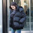 New Fashion Short Padded Women Girl Casual Winter Thicken Down Jacket Coat Black