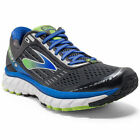 BROOKS Men's Ghost 9 Running Shoes, Wide, Anthracite/Electric Blue/Black