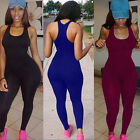 Women Casual Bodysuit Long Pants Sleeveless Bodycon Romper Jumpsuit Club NEW